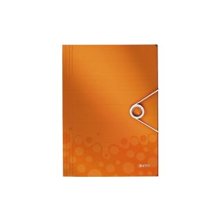 Eckspannermappe PP WOW orange-m 235x320x8 A4