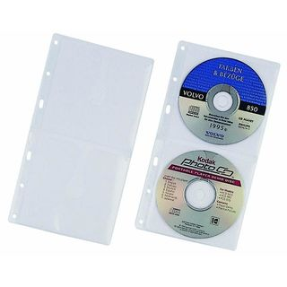 5 DURABLE 2er CD-/DVD-Hüllen  Cover S abheftbar transparent