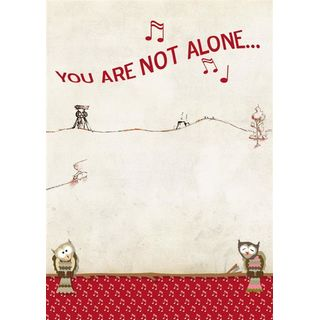 Postkarte You are not alone  - 10 Stück
