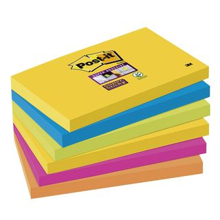 6x Post-it® Super Sticky Notes Rio de Janeiro Haftnotizen 6556SR farbsortiert