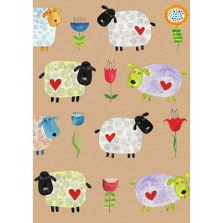 A5 Notizkladde Rememberbook Funny Sheep