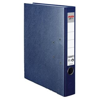 Ordner maX.file protect A4 5cm bl PP-Folienbezug Wechselfenster