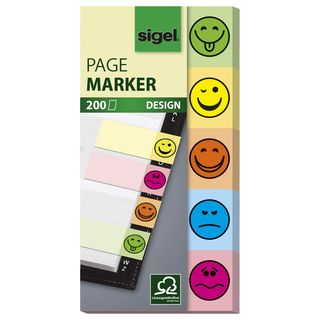 Haftmarker Design Smile 50x100mm 200Bl 5 Motive im Pocket