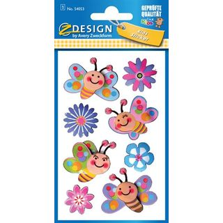 Creative 3D-Sticker 76x120mm 1Bogen Blumen & Schmetterlinge